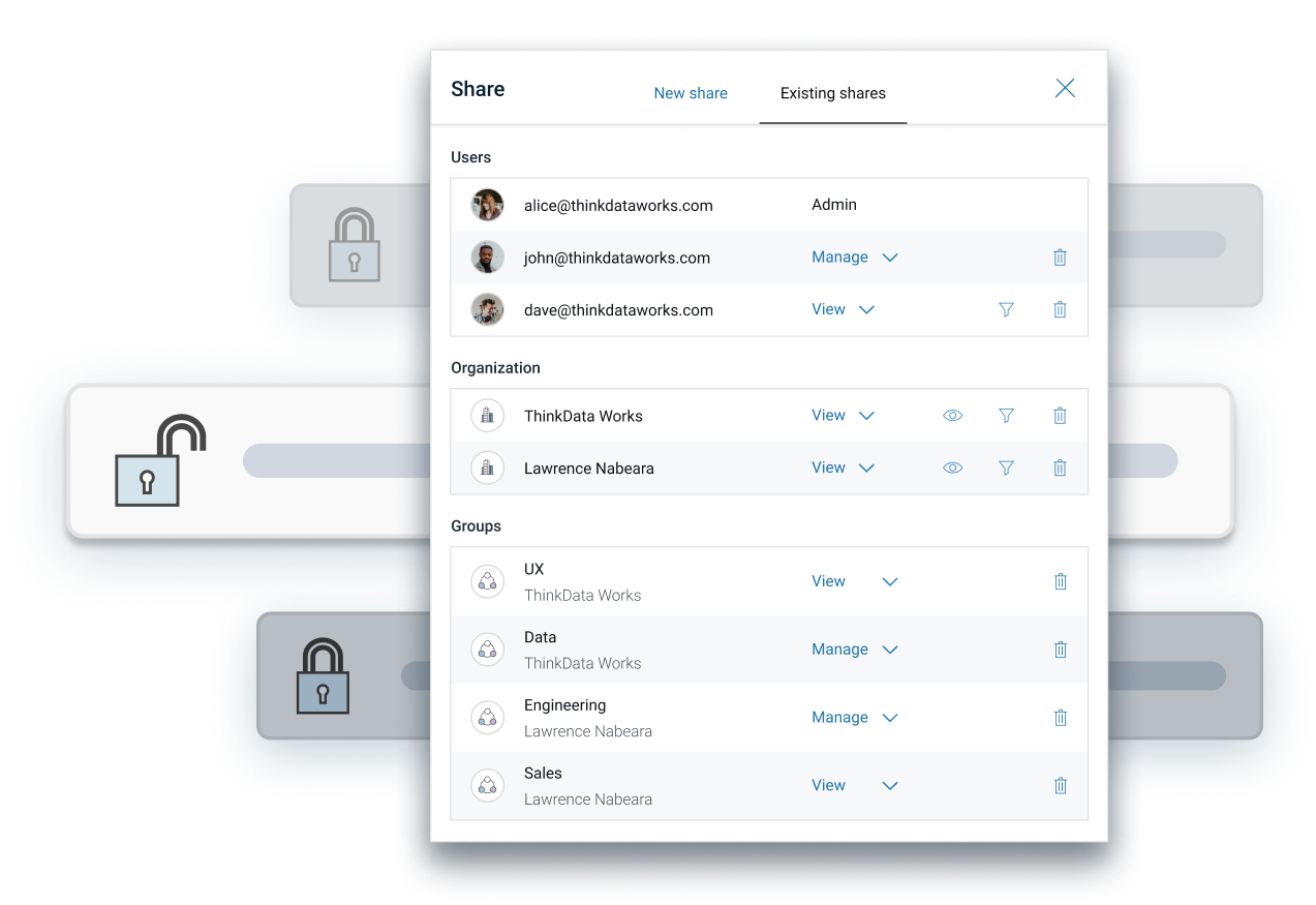 Secure role-based access controls for all data