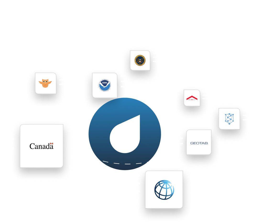 Owler, NOAA, World Bank, Geotab, CMHC, and other data sources