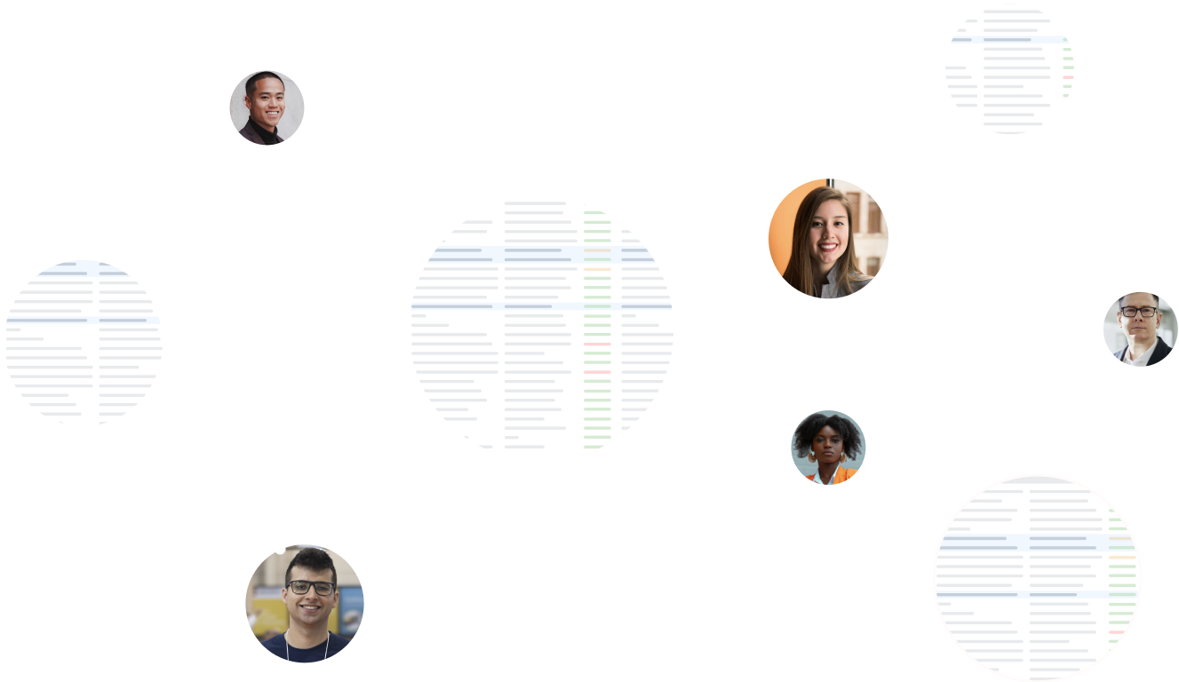 Users connected by datasets
